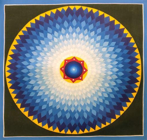 lotus mandala thangka