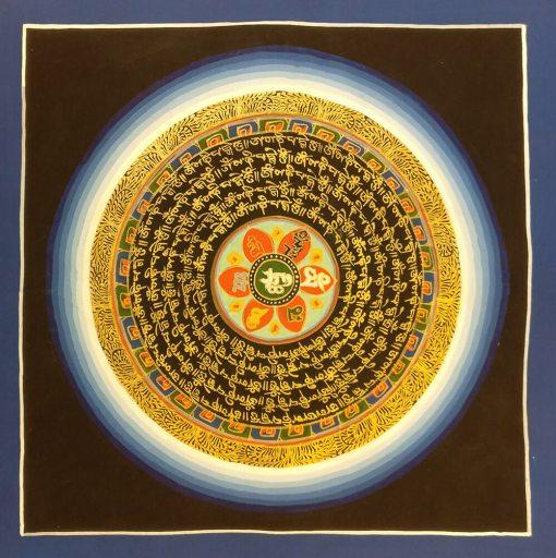 Om Mani Padme Hum Mandala Thangka