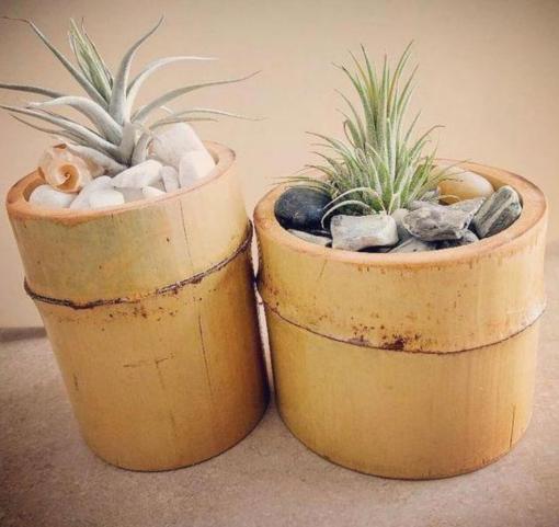 handmade decorative bamboo indoor flower vase