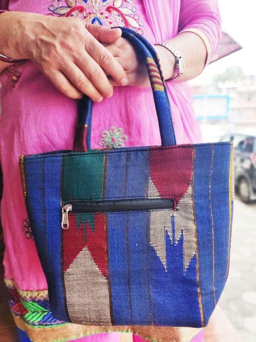 Handmade Nepali Dhaka Tote Bag 1