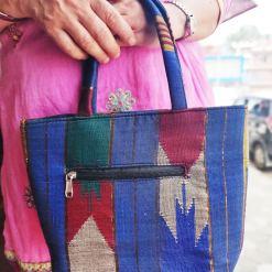 Handmade Nepali Dhaka Tote Bag 2