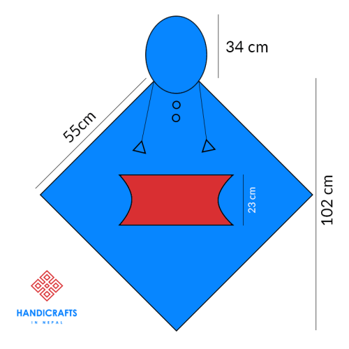 woolen poncho size chart