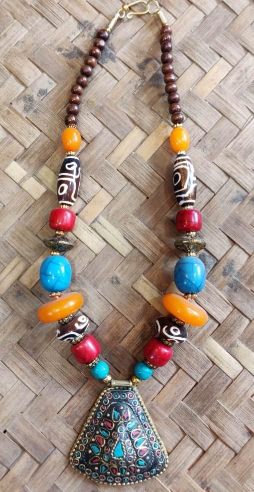 Tibetan Beads Necklace 4