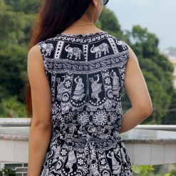 Mithila Women Black and White Dress