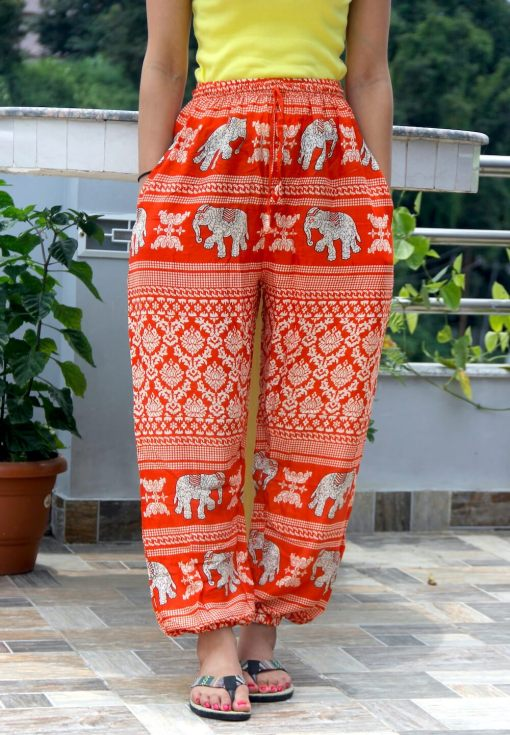 Rayon Printed Trouser for women