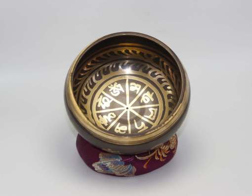 Tibetan Mantra Etched Singing Bowl