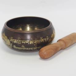 Double Dorje Embossed Singing Bowl