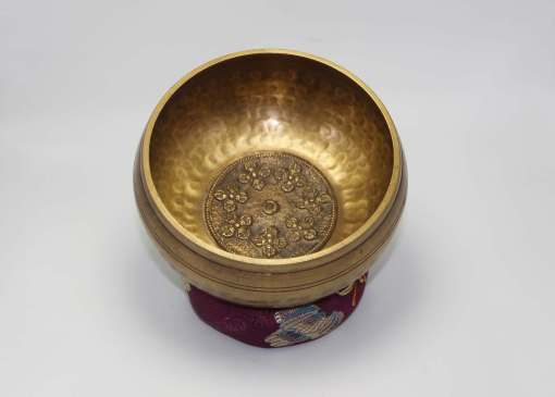 Hand Beaten Dorje Embossed Singing Bowl