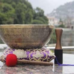 Hand Beaten Dorje Embossed Singing Bowl