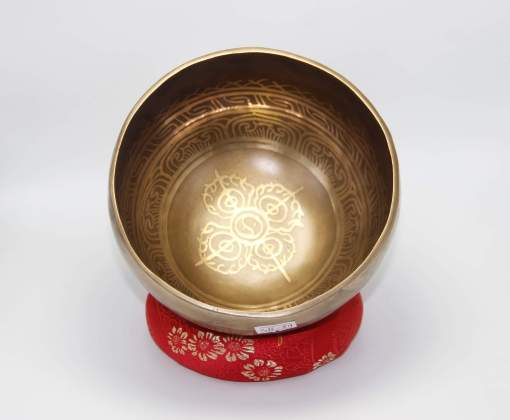 Double Dorje Carved Singing Bowl