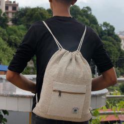 Hemp Drawstring Bag 2