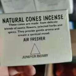natural cones incense juniper berry