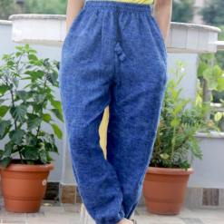 Sky Blue Warm Woolen Trouser
