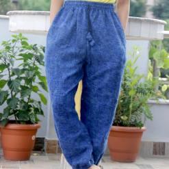 Sky Blue Warm Woolen Trouser