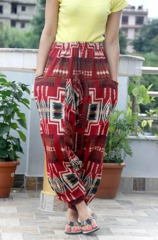 Aztec Woolen Yoga Trouser