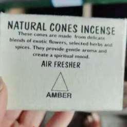 natural cones incense amber