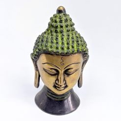 antique buddha head statue