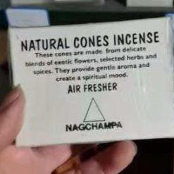 natural cones incense nagchampa
