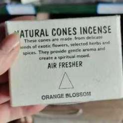 natural cones incense orange blossom