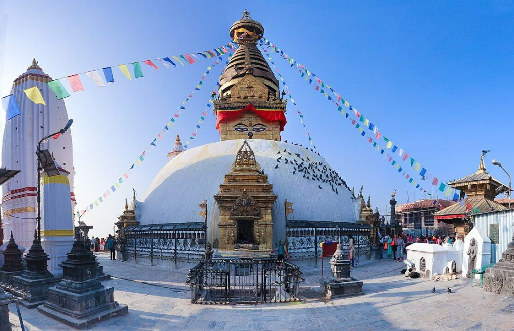stupa style temple nepal