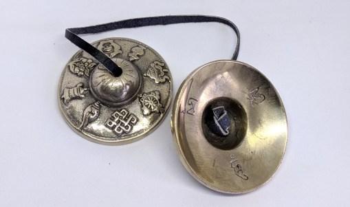 Tibetan Lucky Symbols Musical Cymbals