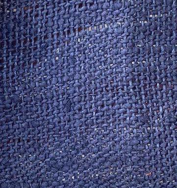 hemp royal blue color fabric