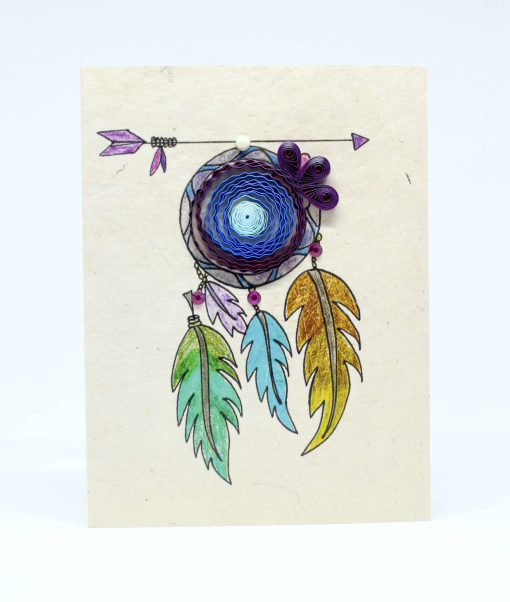 Dream Catcher Quilling Lokta Greeting Card
