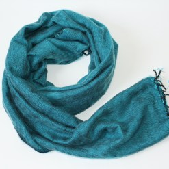 yak wool shawl turquoise color