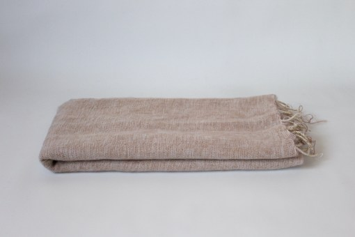 Yak Wool Shawl Beige Color