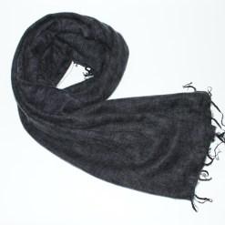 Yak Wool Shawl Dark Grey Color