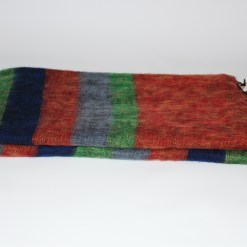 Yak Wool Shawl Stripe Orange Green Color