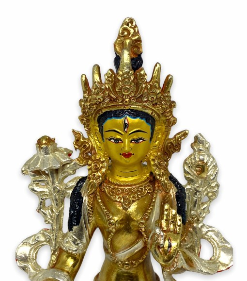 white tara statue nepal