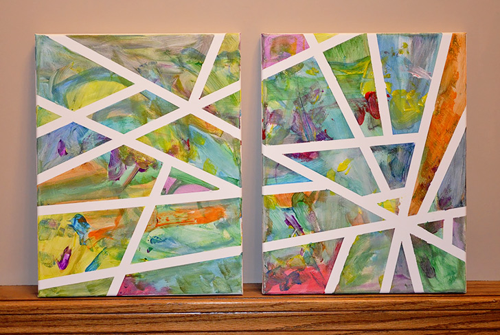 How To Make Adhesive Tape Canvas Art