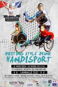 Affiche Meeting Athlétisme Handisport Lamballe