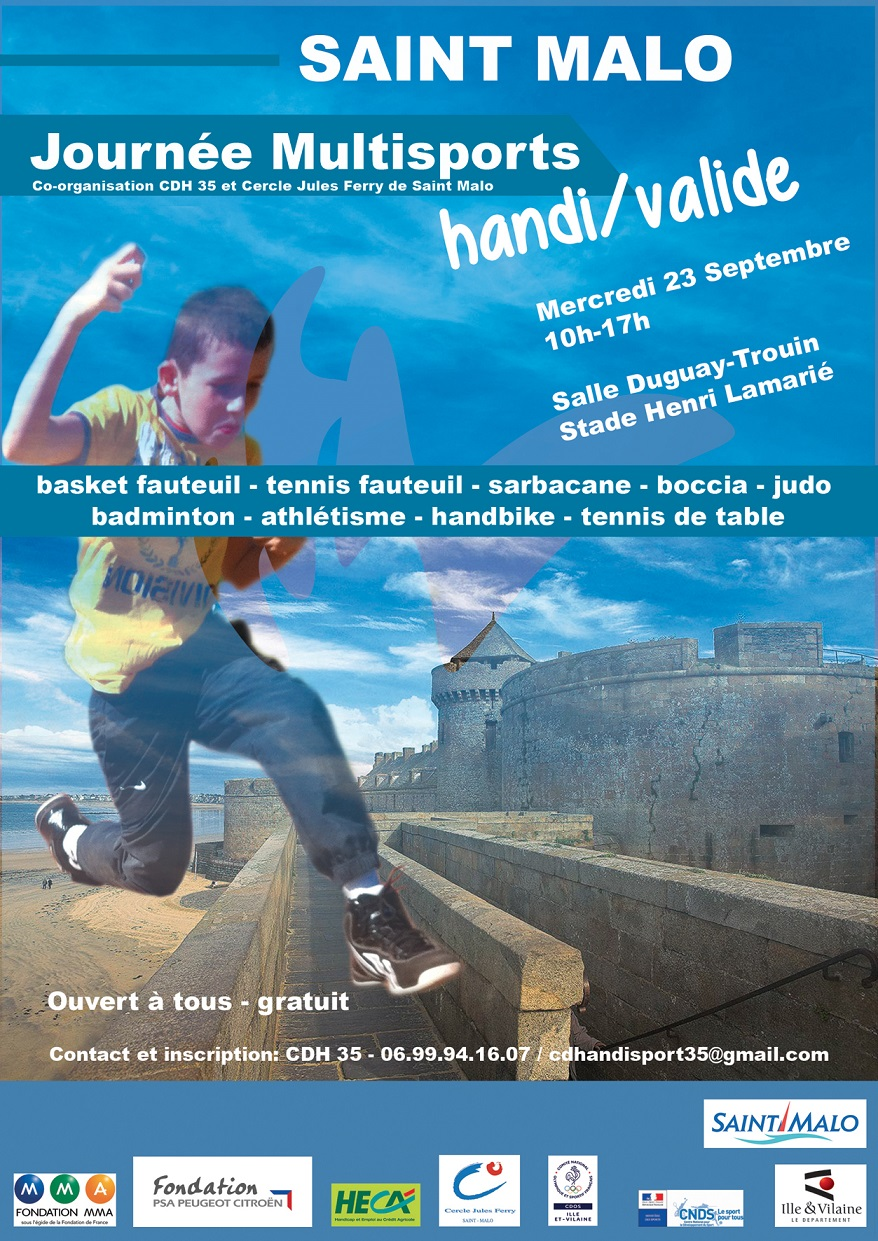 Poster multisports saint malo