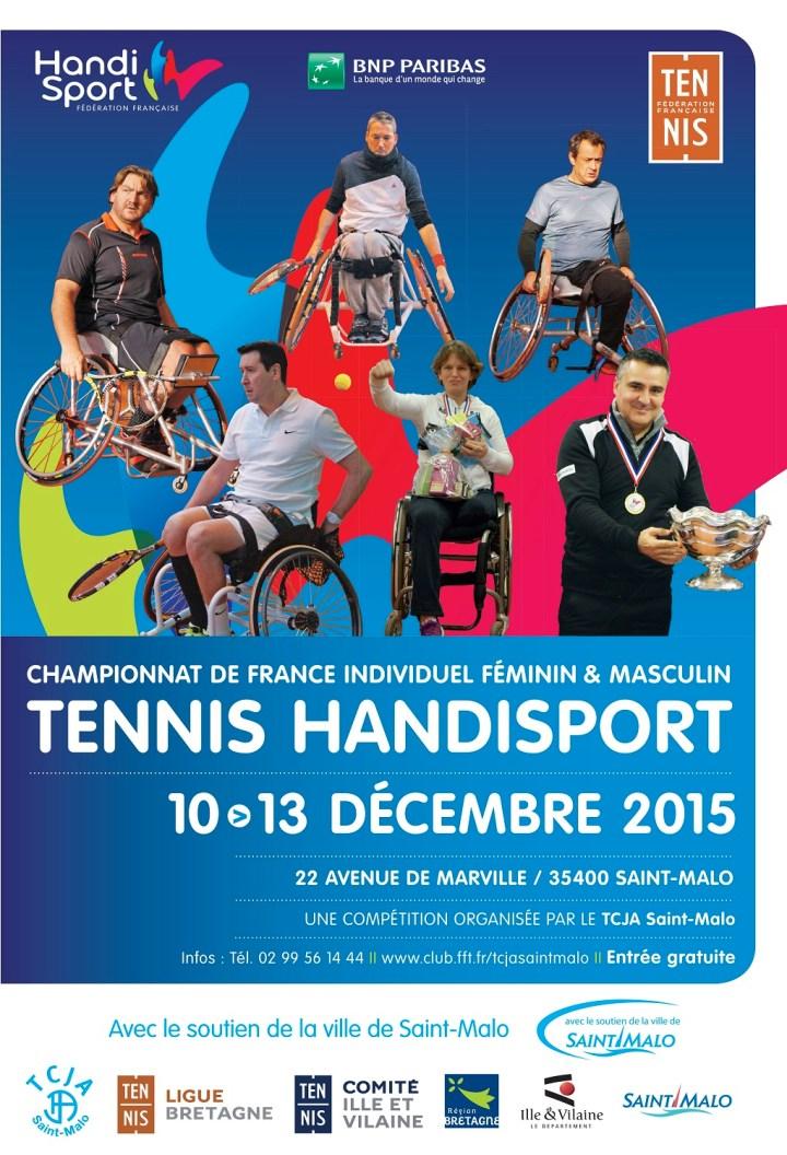 Affiche Championat France Tennnis Handisport St Malo