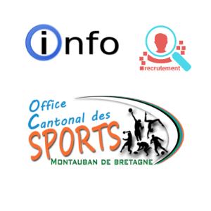 Affiche OCS recrute un éducateur sportif APA
