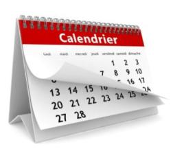 Une page de calendrier qui se tourne