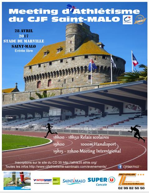 affiche du meeting d'athlétisme de saint malo