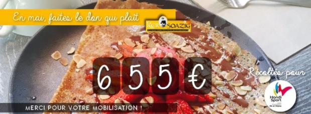 photo du chèque factice de 655 euros