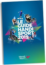 Visuel flashy du Guide Handisport: 5 sportifs en situation 2019