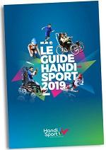 Visuel flashy du Guide Handisport: 5 sportifs en situation 2019