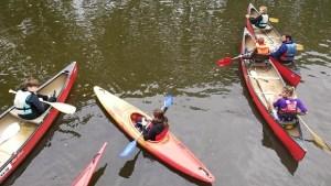 3 kayak sur la Vialine au club de St Grégoire