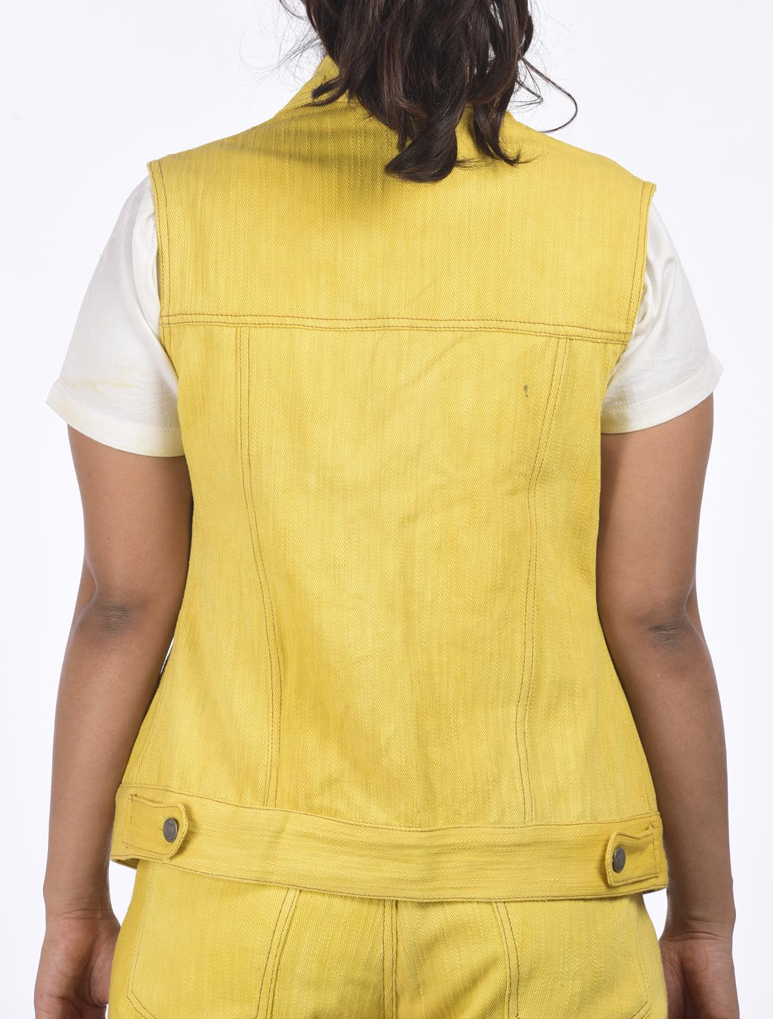 c9f7b7b0b88 Khadi Denim Jacket - Marigold