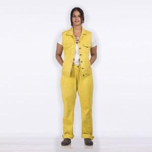 Khadi Denim Jeans & Jacket Combo - Marigold Vegetable Dye - Hand-stitched
