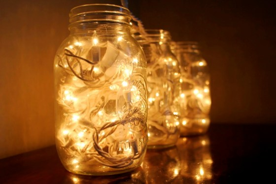 Image result for fairy lights in a jar