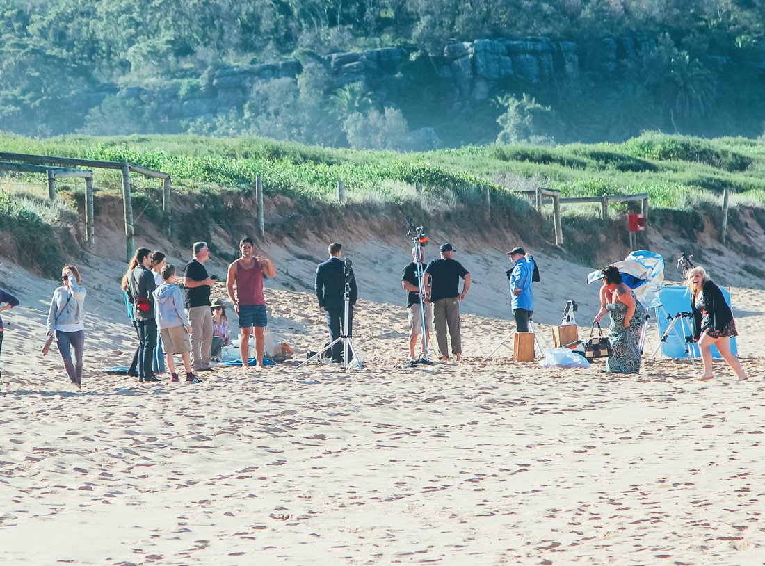 Home and Away Cast and crew on the beach in Palm Beach, Sydney, Australia (6)