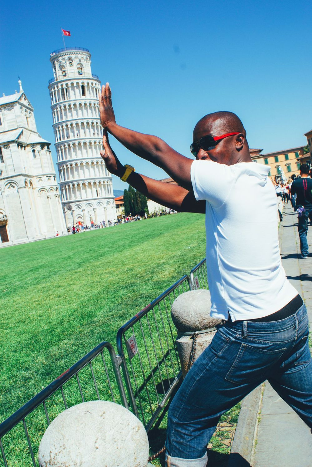 Hopping, Swimming and Leaning in Pisa! Leaning Tower Of Pisa. (1)