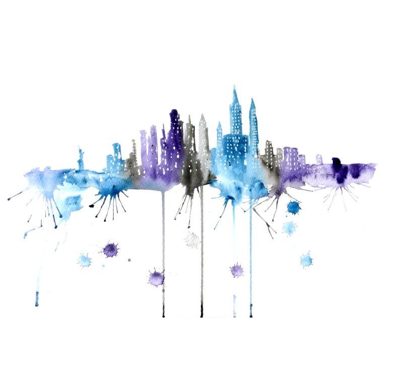 Watercolour Cities by Elena Romanova Artist (2)