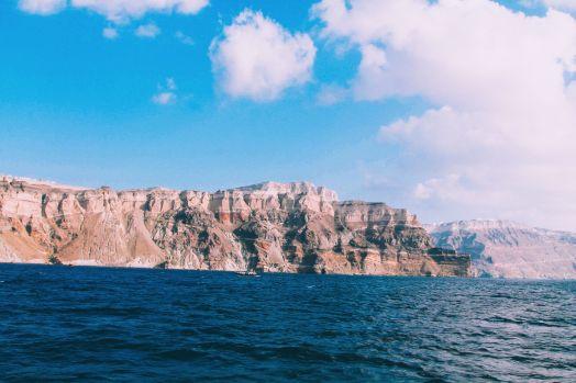 Conquering Volcanos in Santorini, Caldera, Sailing, Boat Trip, Greece (24)